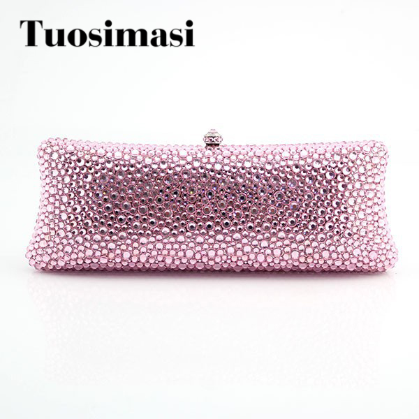 Luxury evening clutch bag crystal clutch purse pink diamond wedding gift bags women women custom name crystal big diamond clutch women evening clutch bag 1020bg