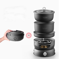 2 4 Person Cooking Pot Camping Cookware Outdoor Pots Sets CW C05