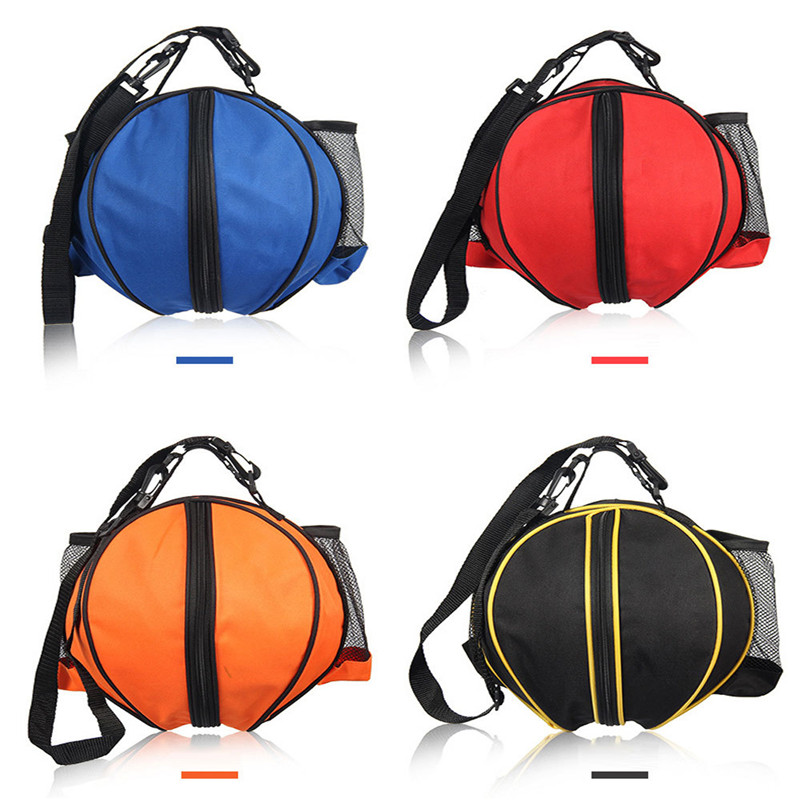 Outdoor Sports Shoulder Soccer Ball Bags Child Adults Football Volleyball Basketball Bag Portable Zipper Seal Training Accessory in Basketballs from Sports Entertainment