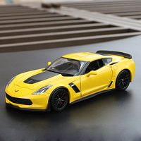 WELLY 1:24 Scale Diecast Metal 2017 Chevrolet Corvette Z06 Simulation Model Car Classic Alloy Car Toys For Boys Gifts Collection