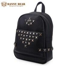 Danny Bear из искусственной кожи рюкзак свежий Стиль женские рюкзаки для девочек-подростков большой PU назад сумки студент школьная сумка женский рюкзак