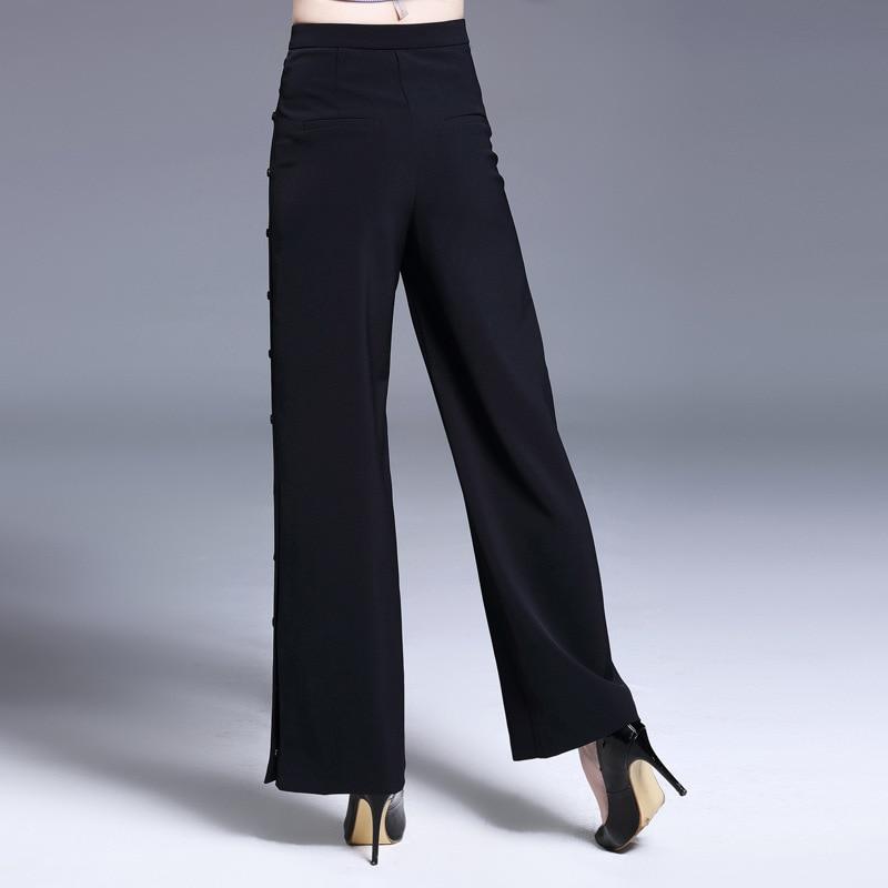 Nuevo Personalidad Agradable Señora Loose Abierto Estilo Mujeres Lado Pantalones Capris Ancha Diseño Verano Black Leggings Tendencia Pierna Tejidas rHqxzArg