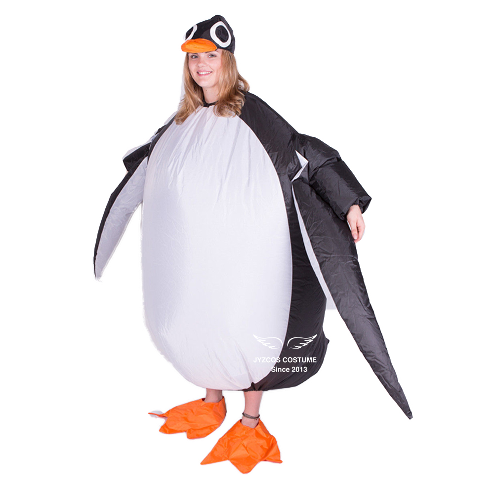 Inflatable Penguin Costume for Women Men Adult Party Carnival Cosplay Dress Blow Up Suit Halloween Xmas Purim Garment Stage Club