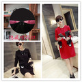Korean version of the new fall and winter clothes soft plush double pocket to go out breastfeeding dress fashion