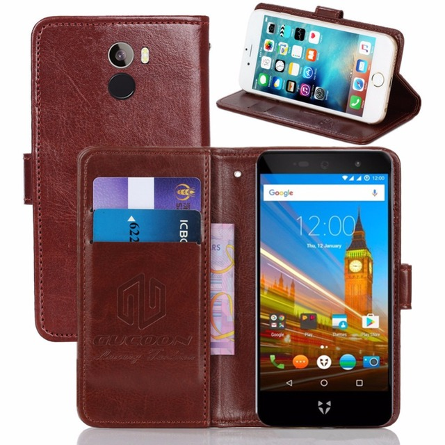 GUCOON Vintage Wallet Case for Wileyfox Swift 2 X 2X 5.2inch PU Leather Retro Flip Cover Magnetic Fashion Cases Kickstand Strap