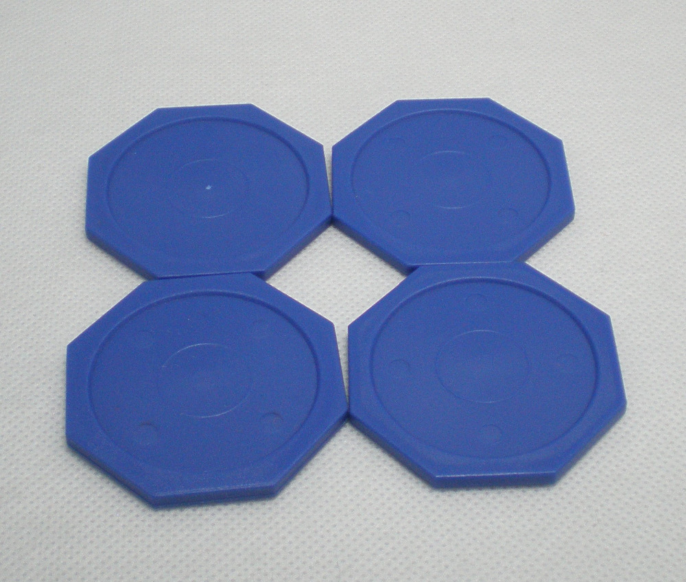 Free Shipping 4pcs/lot Hexagon Blue Air Hockey Table Pusher Puck 63MM 2-1/2