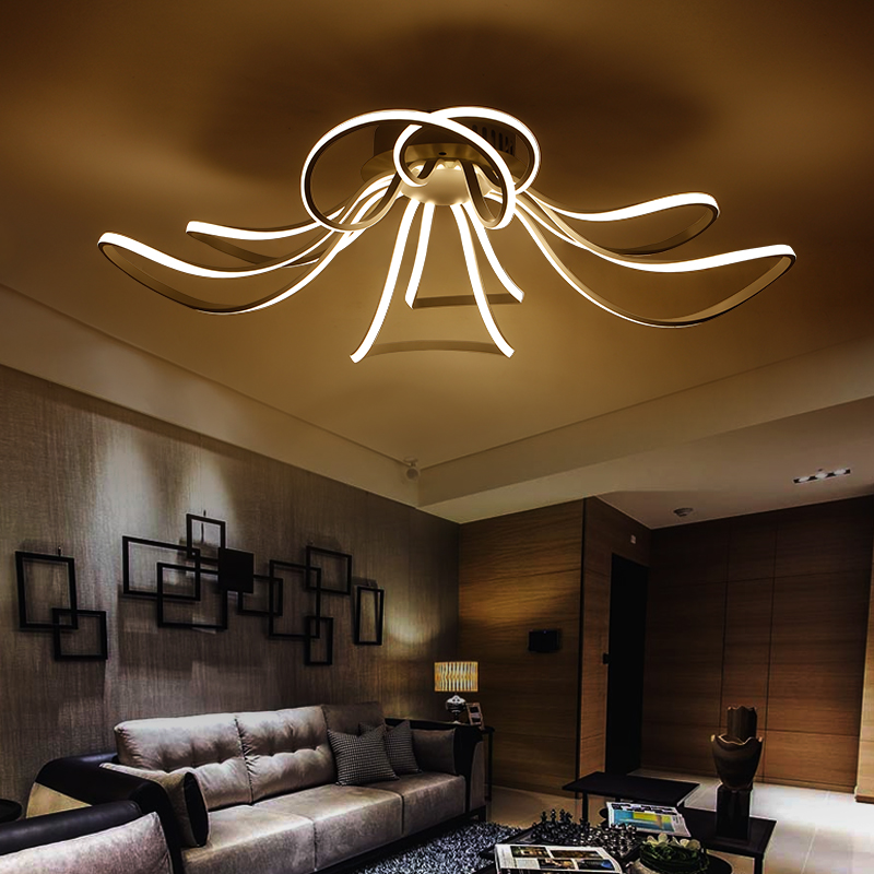buy modern led acrylic design ceiling lights rc dimmable color bedroom living. Black Bedroom Furniture Sets. Home Design Ideas