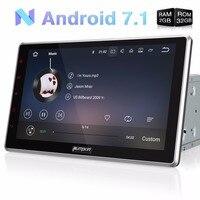 Pumpkin 2 Din 10.1''Android 7.1 Universal Car Radio No DVD Player GPS Navigation Bluetooth Car Stereo Wifi 3G Fast Boot Headunit