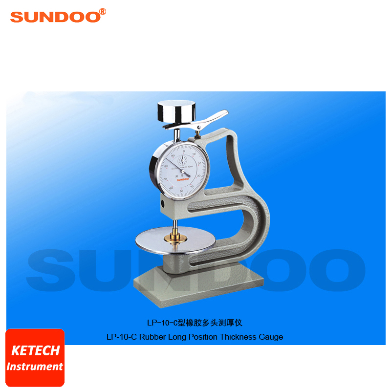 Vulcanized Rubber and Plastic Long Position Rubber Thickness Gauge Sundoo LP 10 C