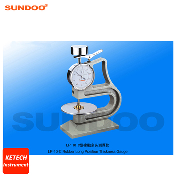 Vulcanized Rubber and Plastic Long Position Rubber Thickness Gauge Sundoo LP-10-C