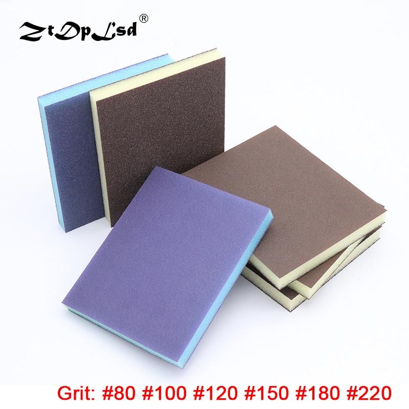 ZtDpLsd 1Pcs High Quality Polishing Sanding Sponge Block Pad Set Sandpaper Assorted Grit Abrasive Tools Sandpaper Sanding Discs