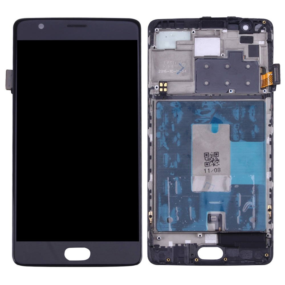 H   LCD Screen and Digitizer Full Assembly with Frame for OnePlus 3 / A3003H   LCD Screen and Digitizer Full Assembly with Frame for OnePlus 3 / A3003