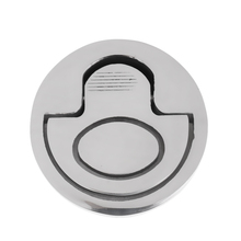 Boat Flush Pull Lift Ring Handle Hatch Locker Cabinet Fitting Accessories Marine Hardware for Watercraft Boat Yacht Silver