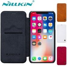 Для iPhone X XS Max XR 8 7 65S SE чехол Nillkin Роскошный PU Флип кожаный телефон сумка задняя крышка для Apple iPhone 8 7 6s 6 Plus