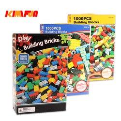 1000 шт. кирпичи Дизайнер творческой классический кирпич DIY строительные блоки Развивающие игрушки оптом для Детский подарок совместимые Lego