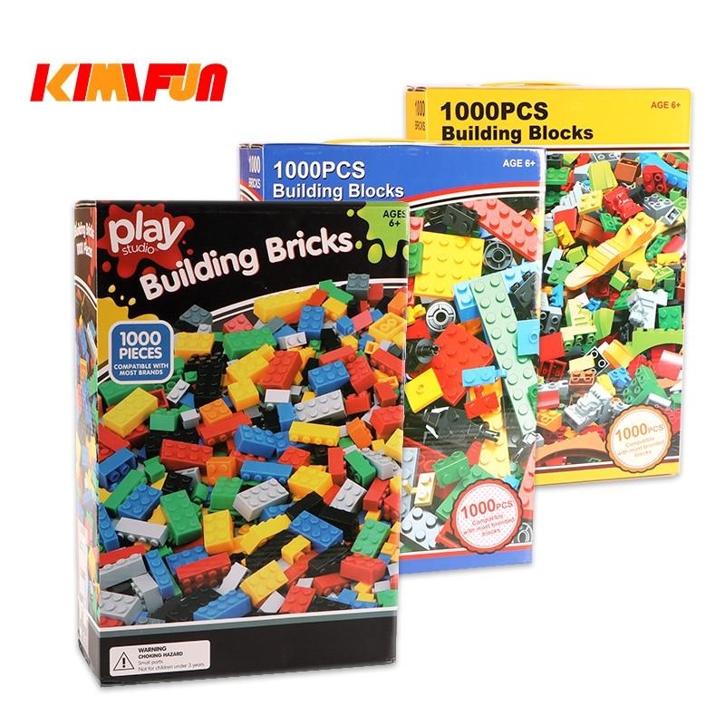 1000 stücke Ziegel Designer Kreative Klassische Ziegel DIY Bausteine Pädagogisches Spielzeug Groß Für Kinder Geschenk Kompatibel Lego