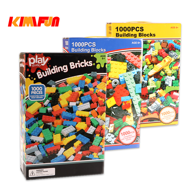 1000pcs Bricks Designer Creative Classic Brick DIY Building Blocks Educational Toys Bulk For Children Gift Compatible Lego 1000pcs bulk bricks educational children toy compatible with major brand blocks 10 colors diy building blocks creative bricks
