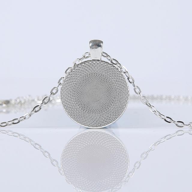 Women Fashion Galaxy Nebula Space Glass Cabochon Pendants Brand Necklace Jewelry