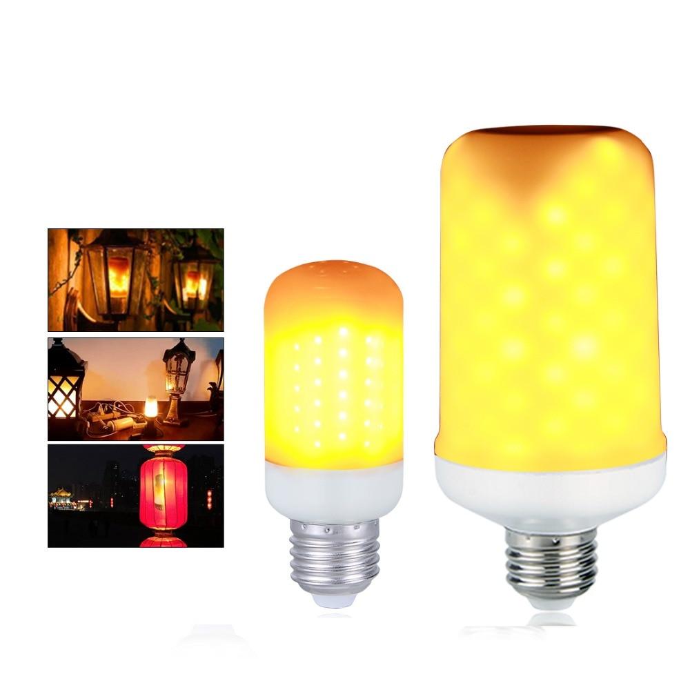 E27 E26 E14 B22 led-lampe Flammeneffekt 85-265 V 2835SMD Feuer lampe Flimmern Emulation Licht 110 V 220 V Brennen Leds Lampada 2 Modi