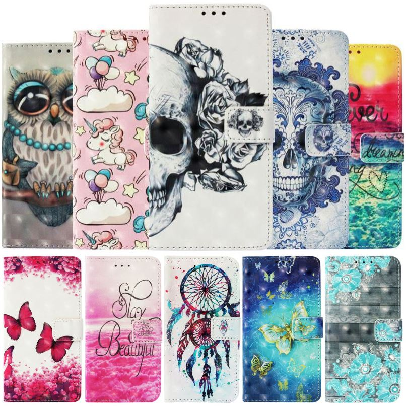 <font><b>Luxury</b></font> Case For Fundas <font><b>Nokia</b></font> 2.1 3.1 <font><b>5.1</b></font> 6.1 7.1 <font><b>2018</b></font> 7 Plus N635 N630 Coque Casual Painted Wallet Card Slot Phone Cover P03E image