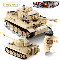 995Pcs German King Tiger Tank Building Blocks Sets Military WW2 Army Soldiers Compatible LegoINGs DIY Bricks Toys for Children