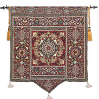 Belgian wall hanging tapestry Moroccan tapestry Bohemian tapestry painted yoga tapestry Geometric figure decorative art work