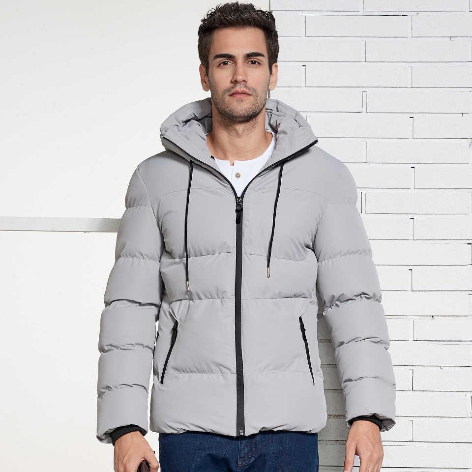 da50416eaf5 HTLB 2018 осень зима новый для мужчин Повседневная Куртка парка теплое  пальто модные однотонные мужские парки
