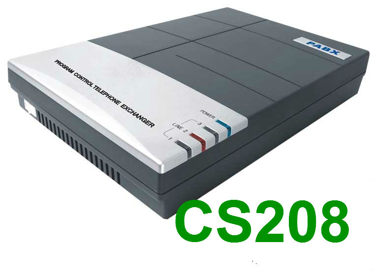 CS208(2Co.lines + 8 ext.) Telephone pabx system for small soho business ballu plaza ext bep ext 1500 1500