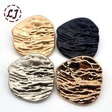 Высокое качество модные швейные пуговицы 10 шт./лот дерево линии металлические декоративные пуговицы для женщин пальто одежды аксессуары DIY
