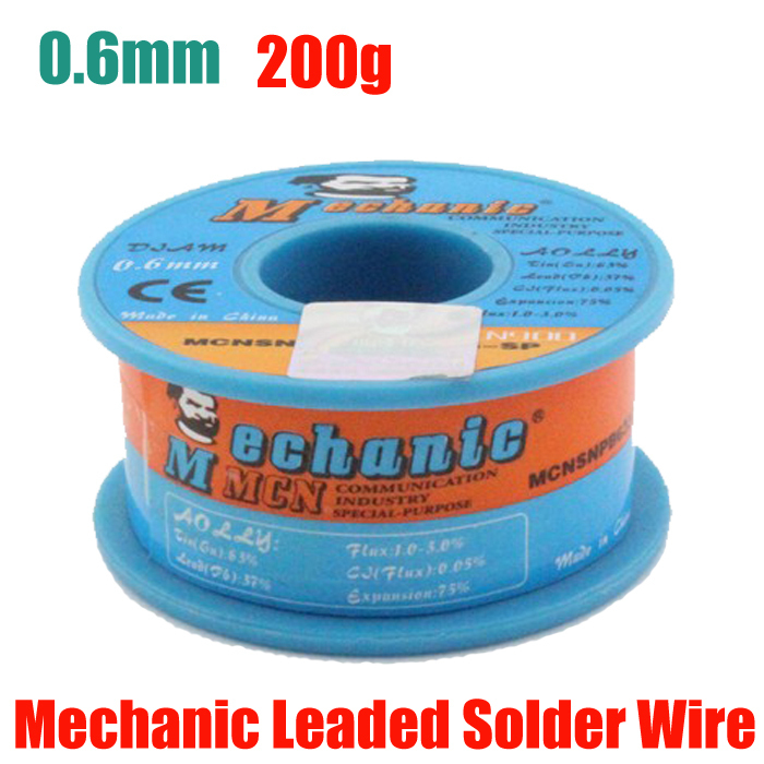 solder wire 0.6 mm low melting point tin content 63% 2% rosin flux Soldering Wire Tin Lead Solder
