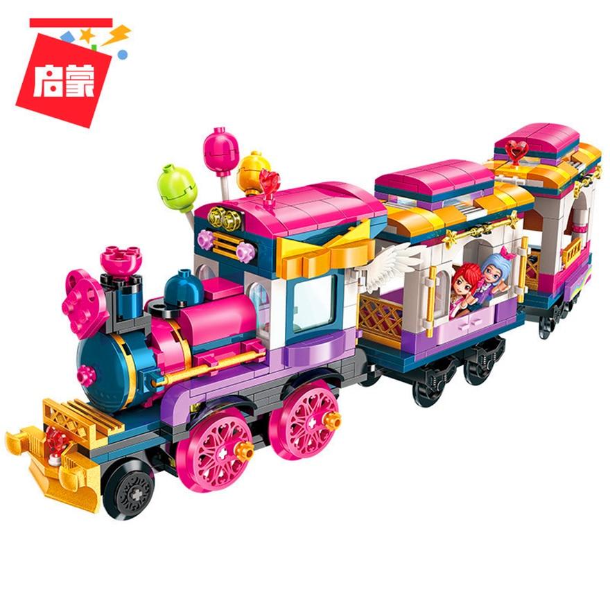 Apprehensive Enlighten 2015 Girl Friend Maersk Train Railway Station Traffic Hub Building Blocks Brick Compatible Legoin Playmobil Toys