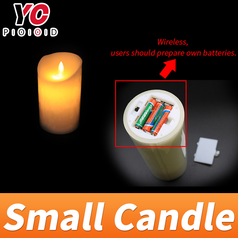 Маленькая свеча prop escape room игра для украшения нажмите на пульте дистанционного управления, чтобы контролировать свечу быть подсветкой ВКЛ и... - 5