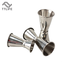 TTLIFE 2017 Hot sale 30/40/50 ml High Quality Stainless Steel Cocktail Jigger Bar Measuring Cup Japanese Style Tools