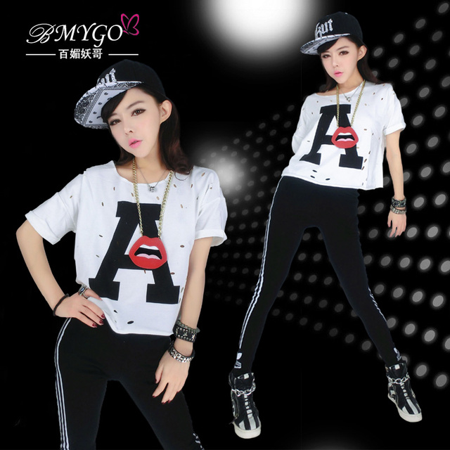 Мода хип-хоп хип-хоп танцевальная одежда хип-хоп одежды джаз свободные топ танец одежда женская ds костюм