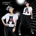 Fashion hiphop hip-hop dancewear hiphop clothing jazz loose top dance clothes female ds costume