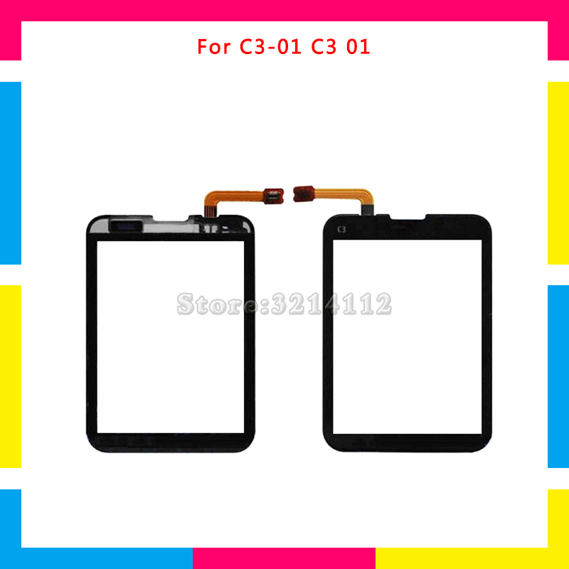 Replacement High Quality Touch Screen Digitizer Sensor Outer Glass Lens Panel For Nokia C3-01 C3 01