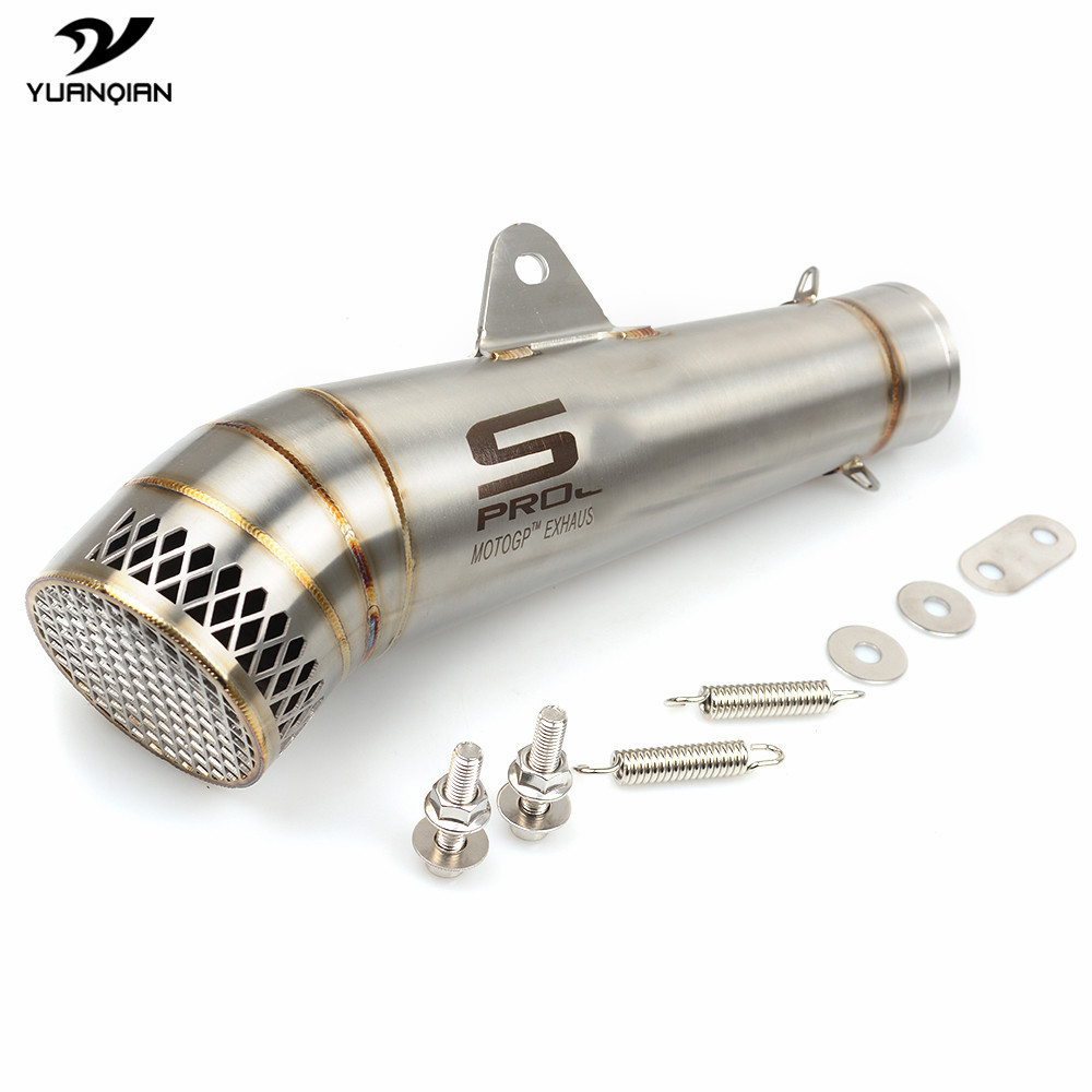 Laser Mark SC Motorcycle Exhaust Pipe Scooter Moto Modified Muffler Pipe For Yamaha MT07 R3 MT03 MT 03 TMAX 2013 2014 2015 2016 laser marking sc motorcycle exhaust pipe for yamaha r3 r1 r6 yzf fz16 z750 honda nc 700 nc750x nc750 2012 2013 2014 2015 2016