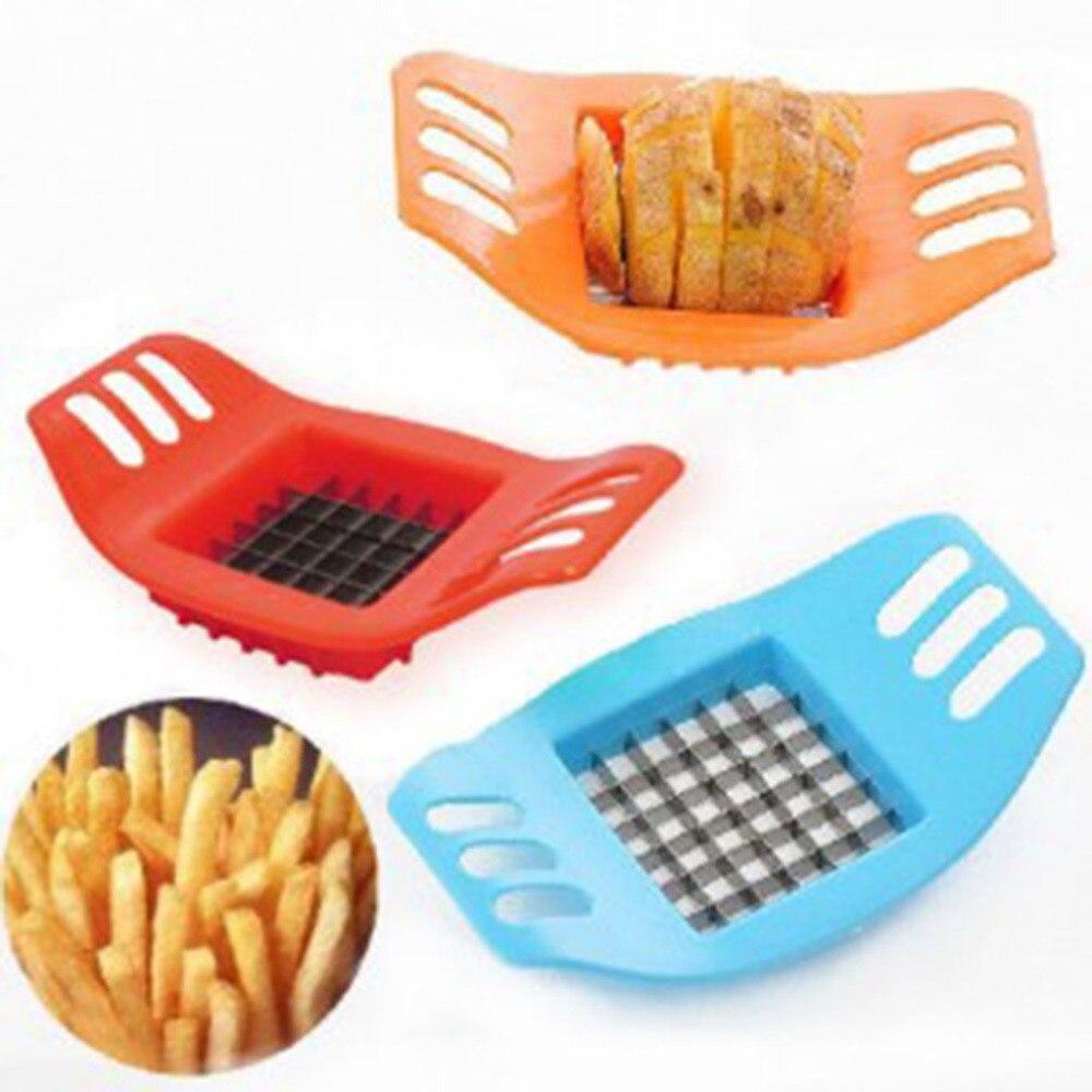 Pemotong Kentang Perangkat Memotong Kentang Goreng Kit Bahasa Perancis Goreng Benang Cutter Kentang Wortel Sayuran Slicer Chopper Chips Membuat Alat
