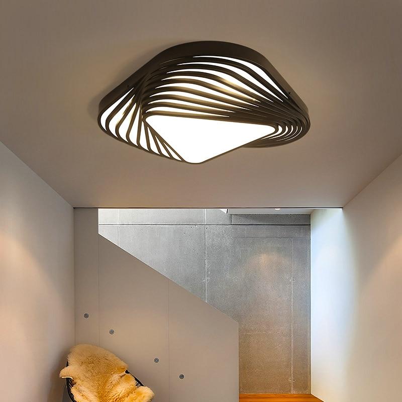 New Design modern ceiling light DIY triangle led bedroom ceiling lamp Nordic living room lampara ...