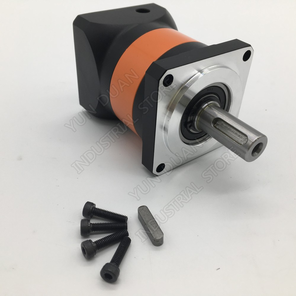 4:1 Speed Ratio 4 Flange 90mm 7Arcmin Planetary Reducer 19MM 12.7MM 1/2 Input Gearbox Reducer for 750W 1 KW Servo Motor CNC4:1 Speed Ratio 4 Flange 90mm 7Arcmin Planetary Reducer 19MM 12.7MM 1/2 Input Gearbox Reducer for 750W 1 KW Servo Motor CNC
