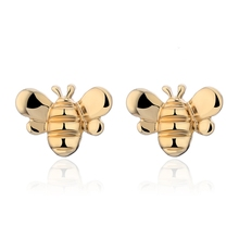 2020 Cute Bee Stud Earrings Jewelry Gold/Silver Color Honey Animal Charm Earrings For Women Friends Anniversary Gift Pendientes spe javier gold silver adorable bumble bee insect shaped stud earrings animal jewelry for women girl gift stud earrings