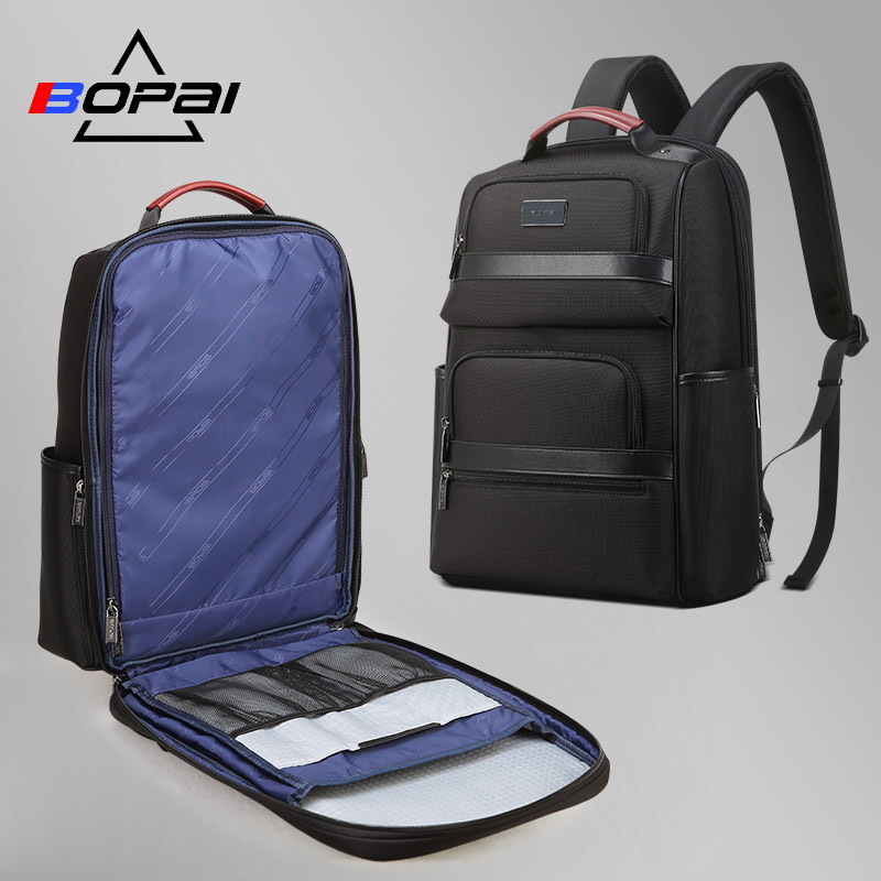 BOPAI 2019 Stylish Backpack Male Business Travel Back Pack Nylon Water Repellent Laptop Backpack 15 6