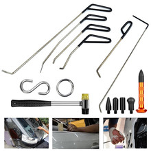 цена на PDR tools Rods Hook Tool Paintless Dent Repair Car Dent Removal Tool Kit  Dent remove PDR set tap down with repair hammer