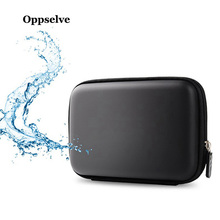 Oppselve Hard Disk Case Portable HDD Protection Bag For Drive/Earphone/USB Cable/Charger/Airpods External Storage Black