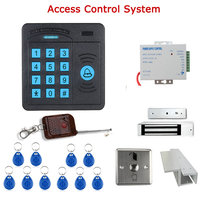 Door Access Control Controller ABS Case RFID Reader Keypad Remote Control 10 ID cards Magnetic Lock