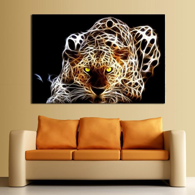 Leopard Bedroom Ideas For Painting: Hot Sell Abstract Leopard Painting Modern Home Wall Decor