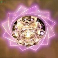 Dia20cmเงาที่ทันสมัยอะคริลิLedโคมไฟระย้าโคมไฟคริสตัลทางเดินห้องโถงDimmableนำไฟโคมระย้าบนเพดานติดต...
