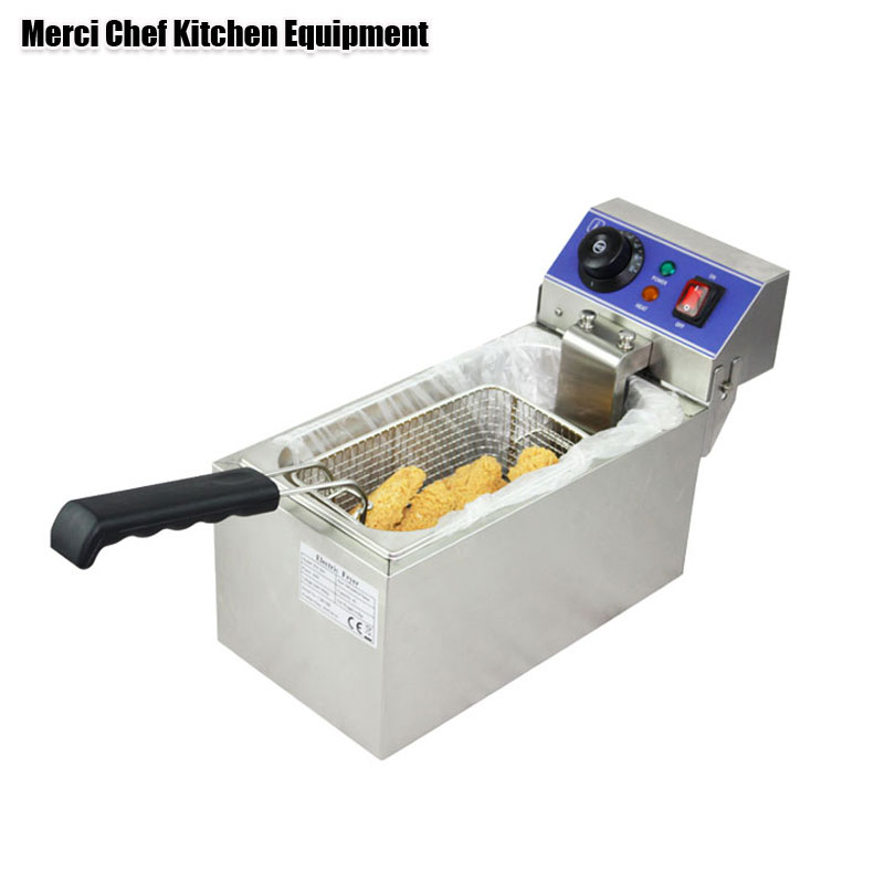 6L Electric DEEP FRYER Frying Machine household and commerical suit Food Machine CE Stainless Steel Material salter air fryer home high capacity multifunction no smoke chicken wings fries machine intelligent electric fryer
