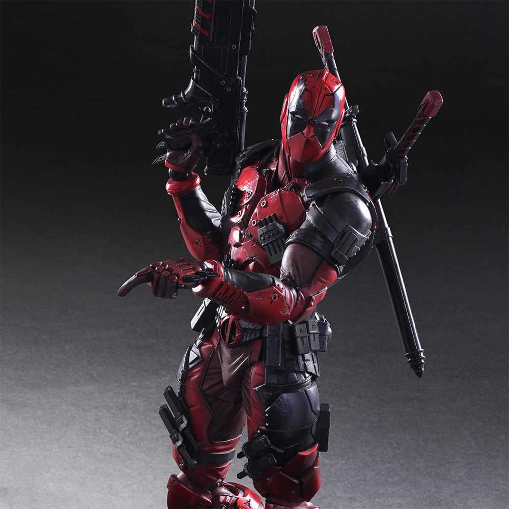 Jogar Arts Kai Figura Wolverine X-men Deadpool Deadpool Wade Winston Wilson Jogar Arte KAI Figura de Ação DO PVC 26 cm boneca de Brinquedo