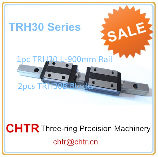 cnc linear rails set (1 pc TRH30 L900mm Linear Guide Rail+2 pcs TRH30B Linear Pillow Blocks) стоимость